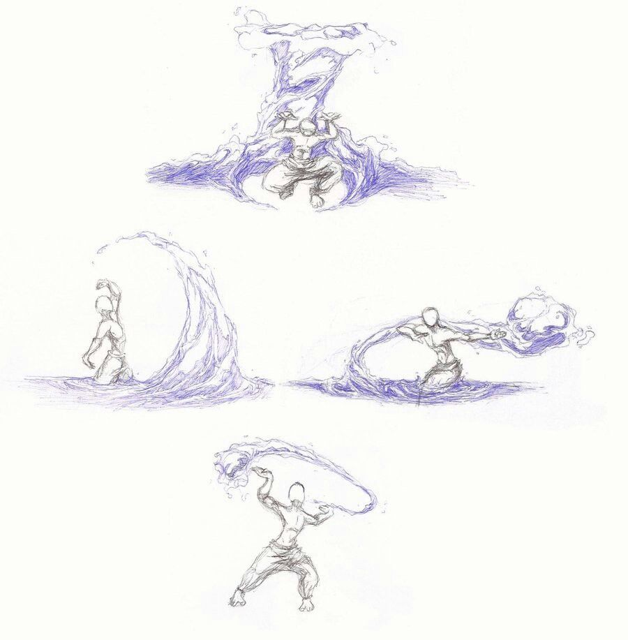 Drawing tips drawing poses drawing reference water bending air bender tai