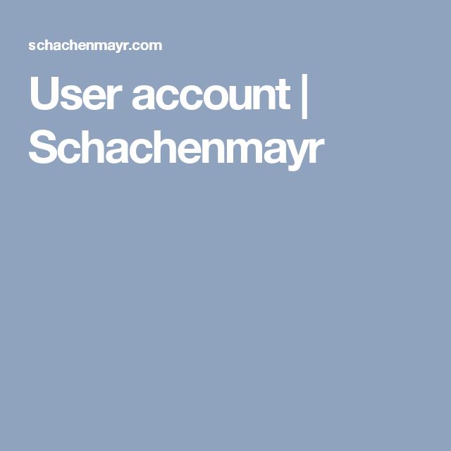 User account | Schachenmayr
