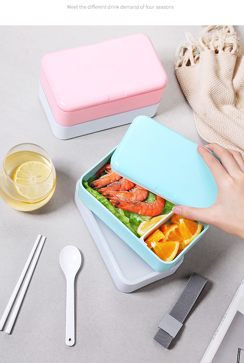 1200ml Japanese Lunch Box Microwavable Food Container Lunchbox