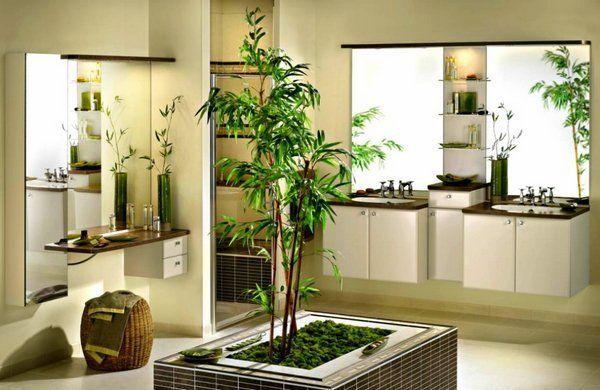 plantas para cuartos de baño de bambú japonés cuarto de ...