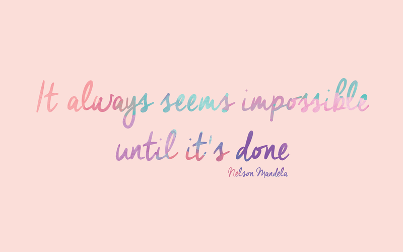 It Always Seems Impossible Until It S Done Laptop Wallpaper Quotes Inspirational Desktop Wallpaper Desktop Wallpaper Quotes