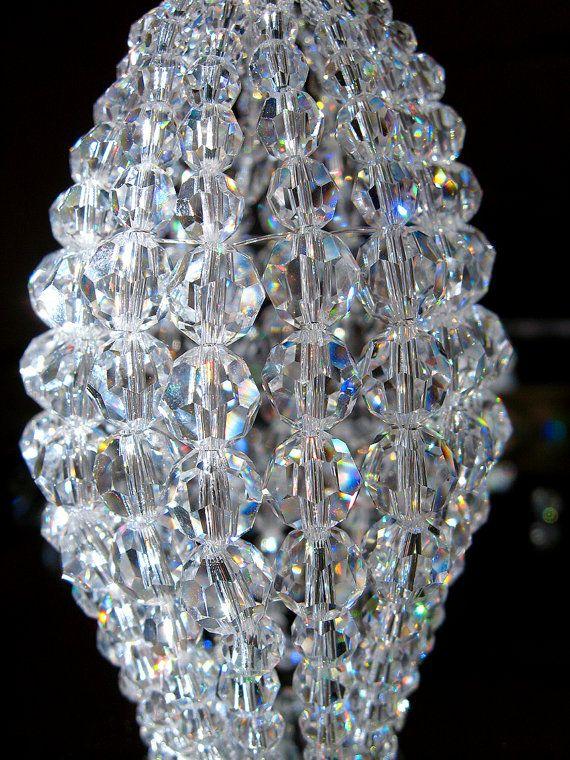 Small Swarovski Crystal Beaded Light Bulb Cover Chandelier Shade Sconce Candelabra Lamp