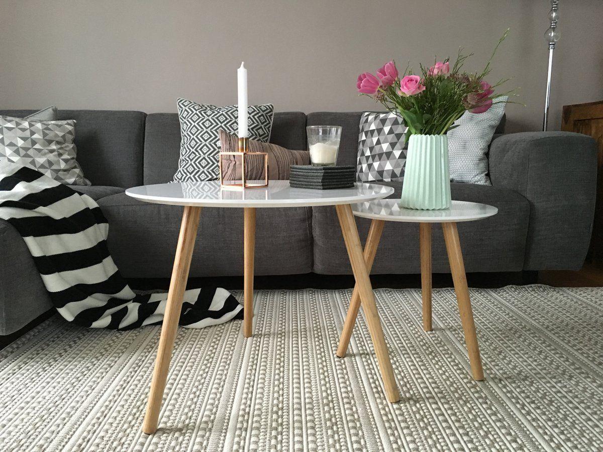 Grau in grau   Beistelltische  Beistelltische wohnzimmer Wohnzimmer und Einrichtungsideen