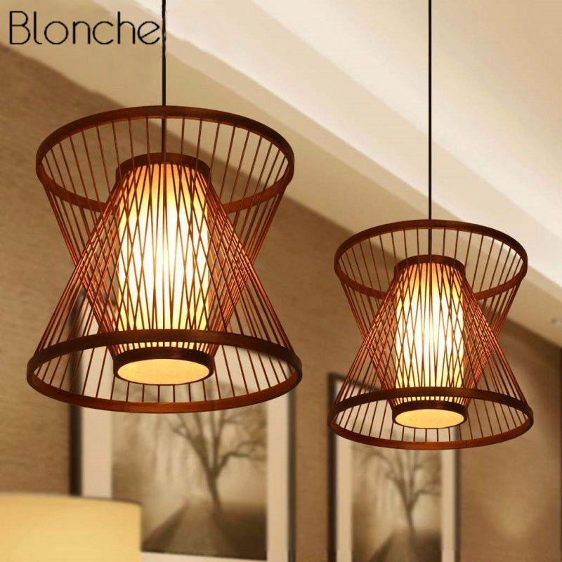 Günstige Bambus Anhänger Lichter Led Restrant Hängen Lampe für Küche