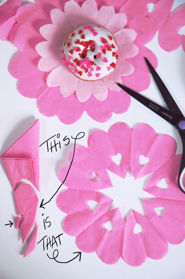 DIY Sweet and Simple Heart Doily Napkins