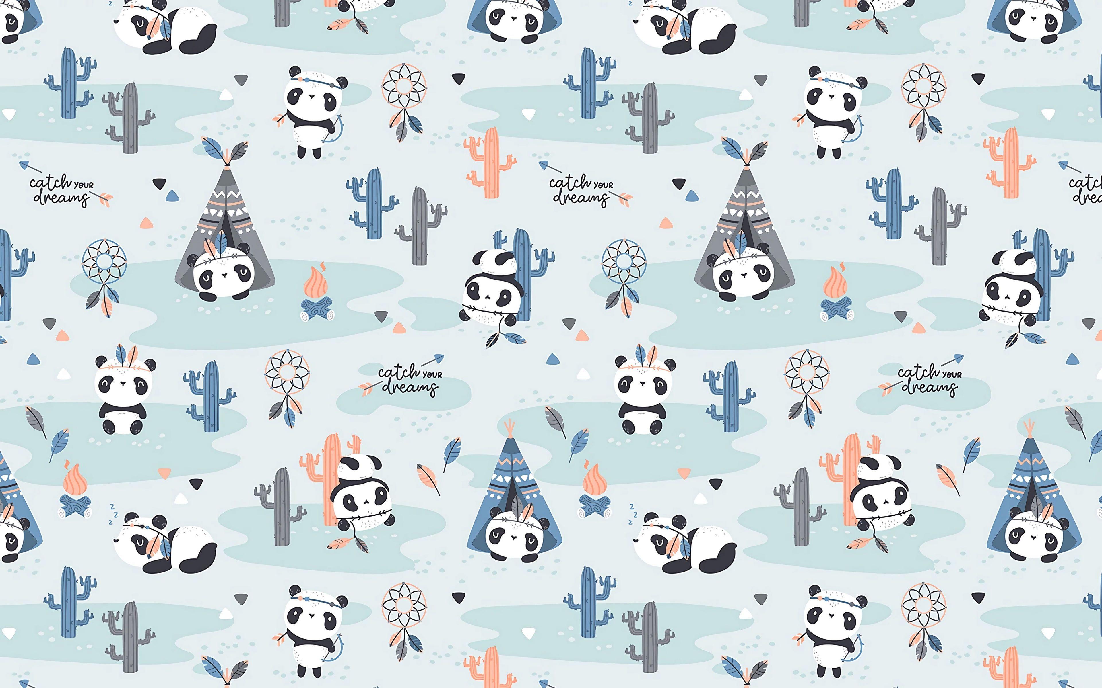 Pattern Textures Funny Cute 4k Ultra Hd Background Pandas 4k Wallpaper Hdwallpaper Desk Textile Pattern Design Surface Pattern Design Panda Wallpapers