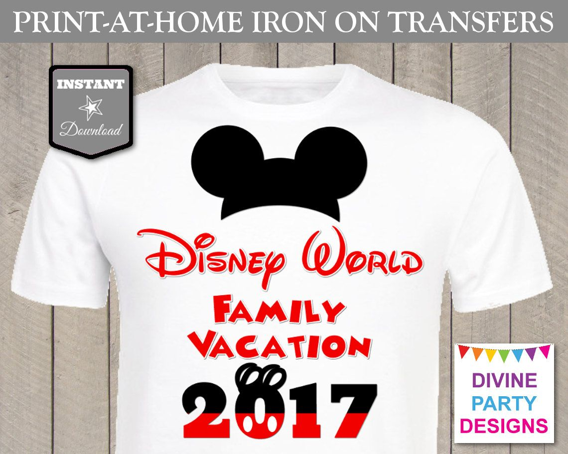 Disney World Family Vacation 2017. Make your own matching family t ...