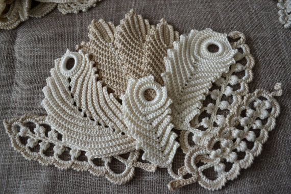 Crochet flower Irish Crochet Flower applique Set flower 10pcs Irish lace Flower necklace Crochet Flower fashion Wedding set flowers