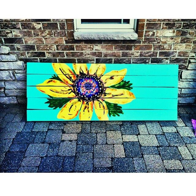 Sunflower Picnic Table Made By Catrionarose Painted