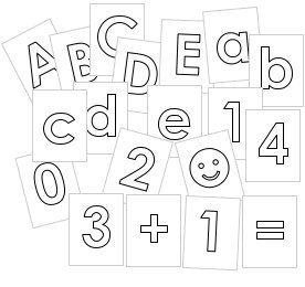abc-kärtchen für vorschulkinder und kindergarten   schreiben lernen, buchstaben und ausdrucken