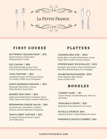 Vis ID Logo image by Jayneezemba French restaurant menu
