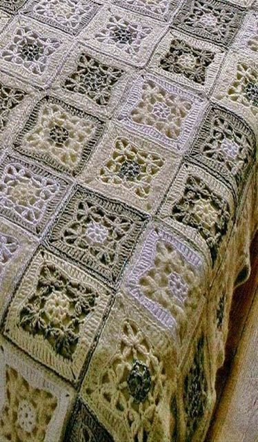 Want to let your most beautiful room? see that wonderful quilt crochet - Crochet Designs Free