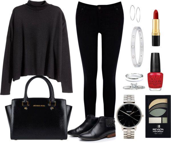 Andrea Moda y Asesoría: Sweater Gris oscuro Jean Negro FW15-16