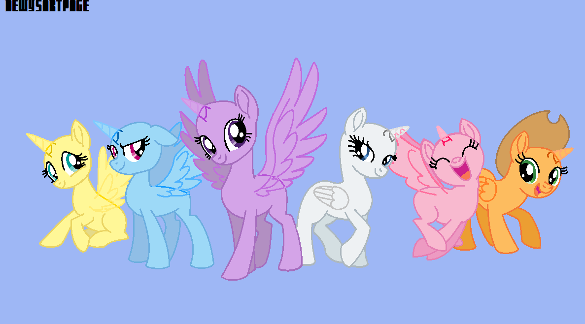 7a21b0f30e957d Mane 6 base by Dewysartpage My Little Pony Characters