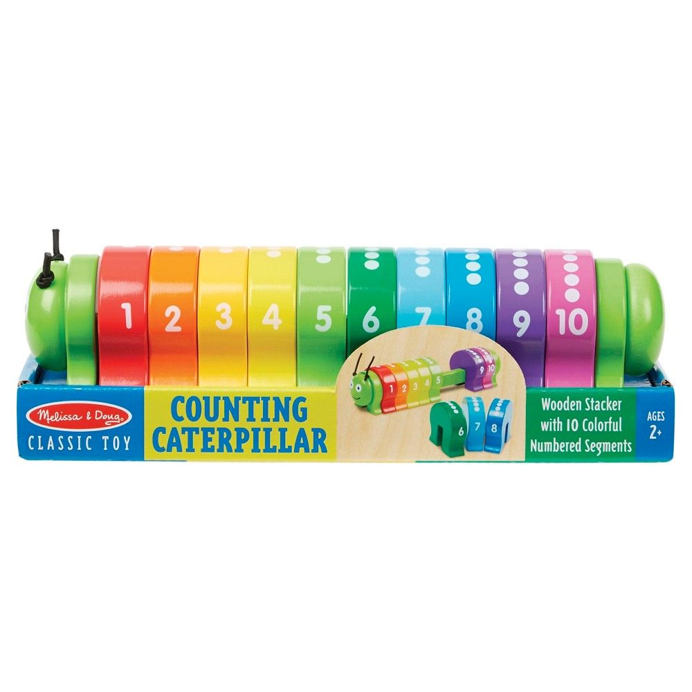 Melissa Doug Counting Caterpillar Classic Wooden Toy
