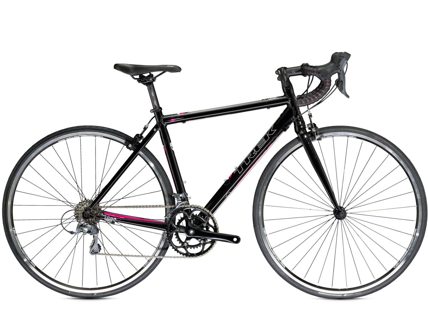 trek lexa 1490 in black and hot pink  this is my new baby