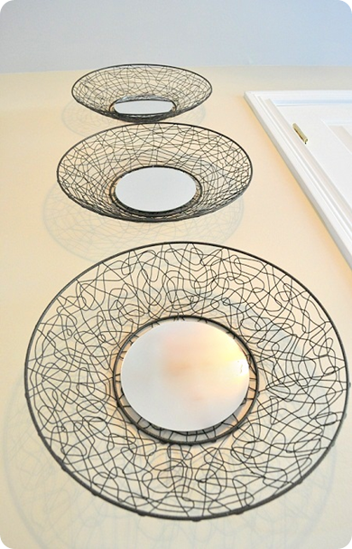 Round Wire Basket Wall Mirrors For The Home Baskets On Wall