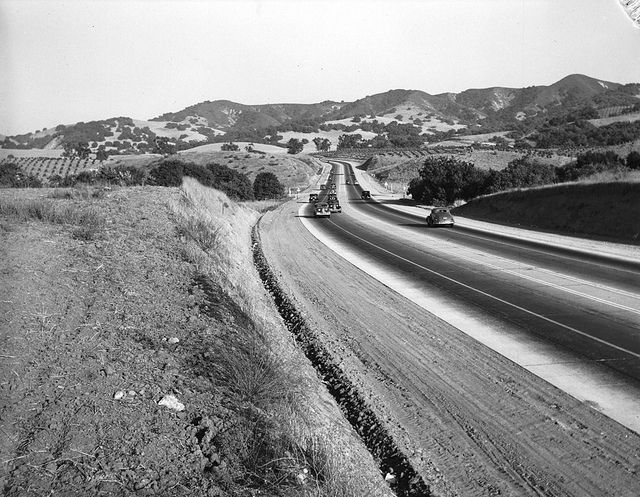 Holt-Garvey Highway looking towards Kellogg Hill from near Covina (1938) by 47specialdeluxe, via Flickr