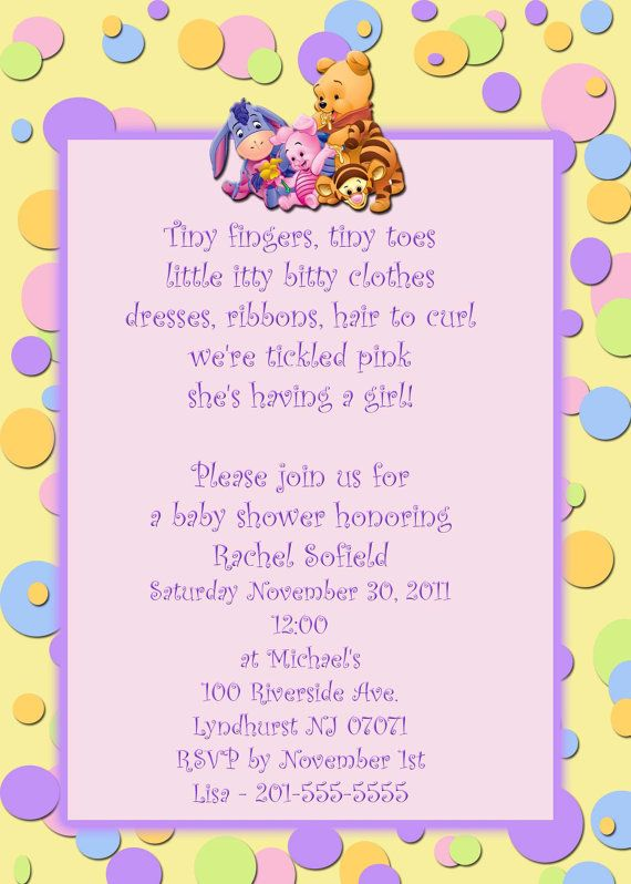 fcd8d4be48f7 Winnie the Pooh Baby Shower Invitations 2 styles by photo18
