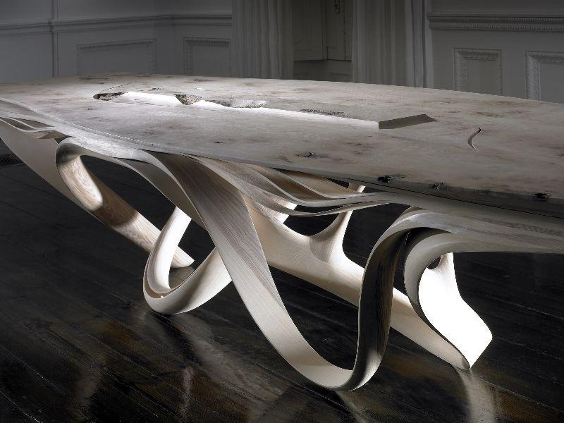Table Design Organique Bois Enignum Ii By Joseph Walsh Studio Contemporary Projet Fusion