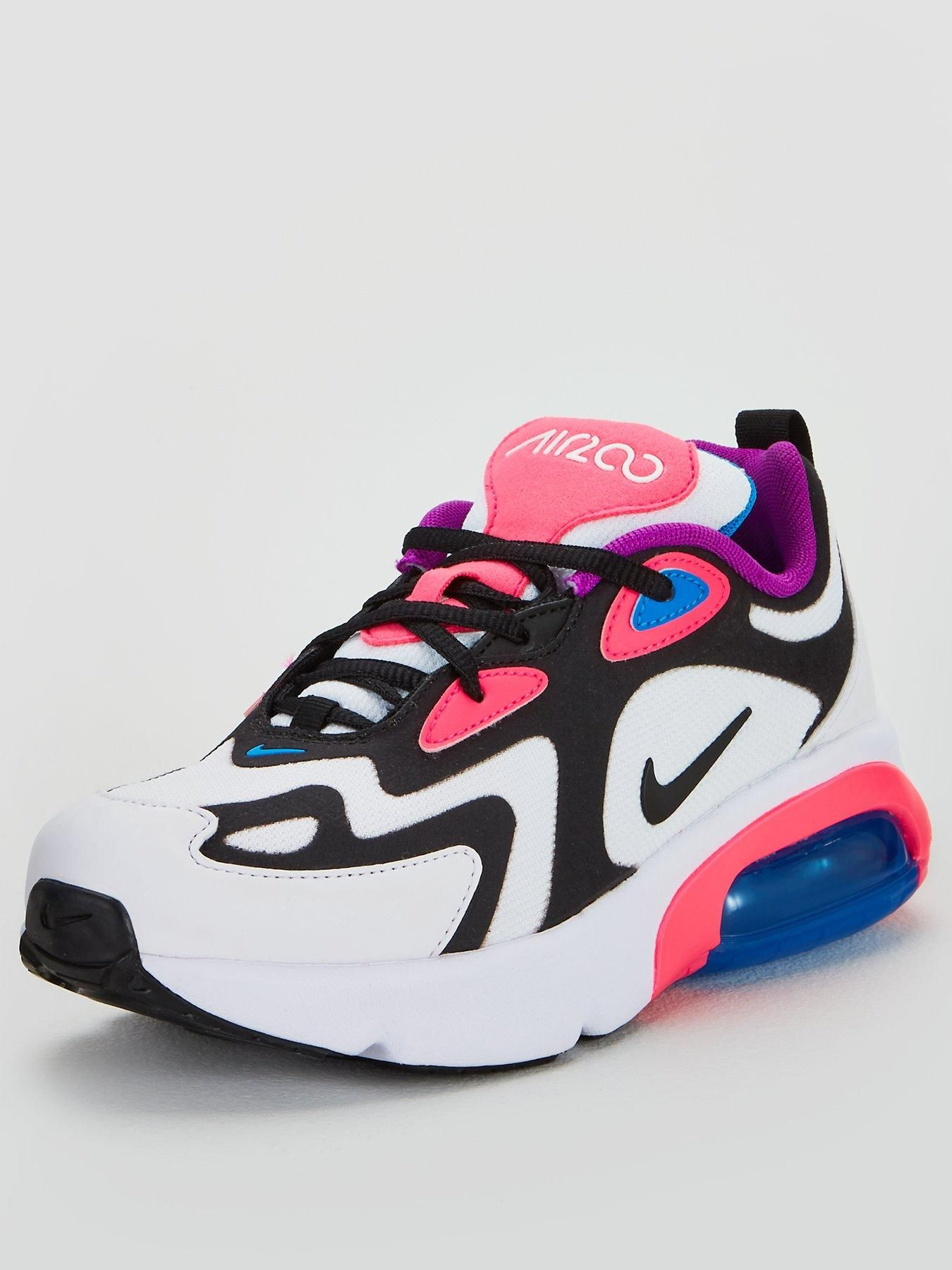 Nike Air Max 200 Junior Trainers WhitePinkBlue in 2019