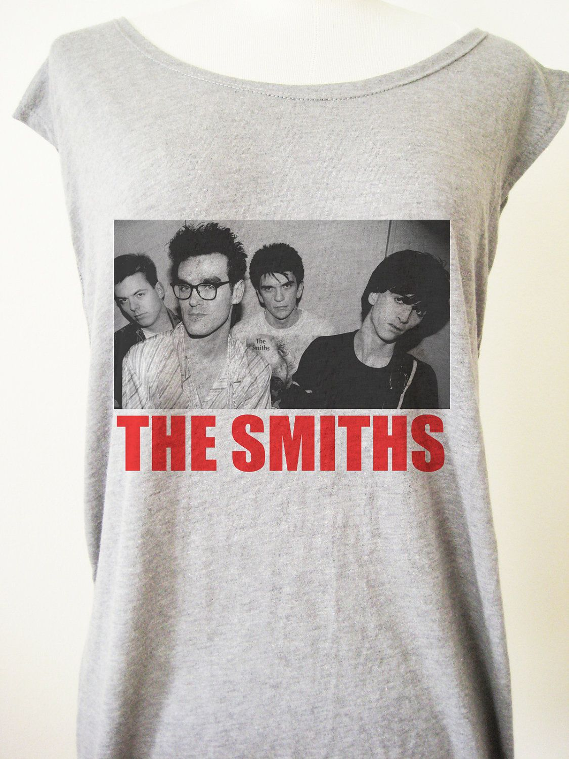 d926add94a7a0 Retro The Smiths Punk Rock T-Shirt Tee Tank Top Tunic Vintage Look One  Size.  8.00