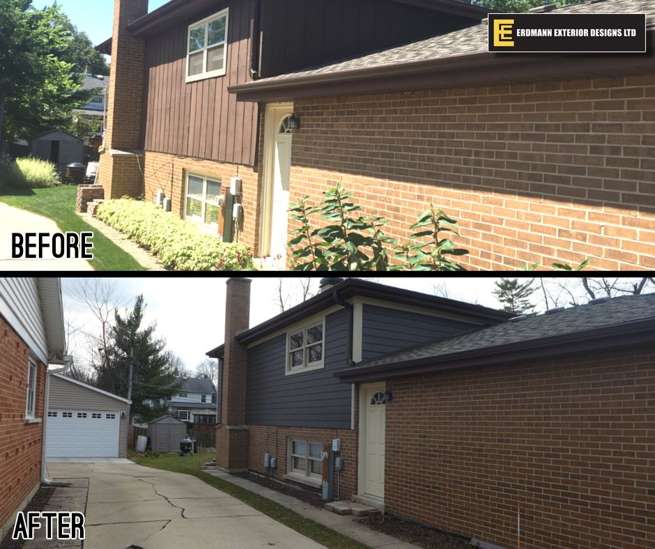 Erdmann #tranformationtuesday @James Hardie Building Products siding in #RichEspresso #transformationtuesday #homeremodel