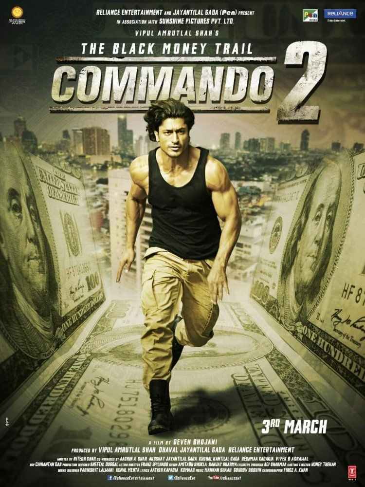 Download or Watch Commando 2 (2017) BluRay bollywood mobile movies for FREE  using your