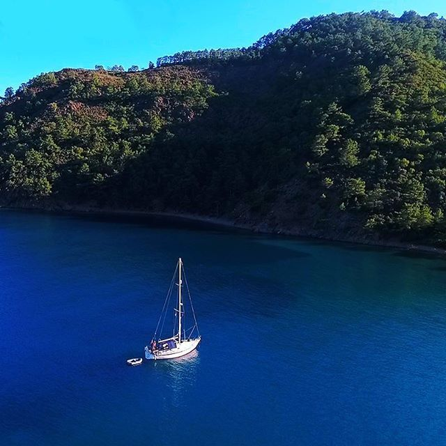 Look left? Deep green. Look right? Turquoise. Look up? Sky blue. Look down? The deep blue sea.  #Turkey #HomeOf #BlueVoyage