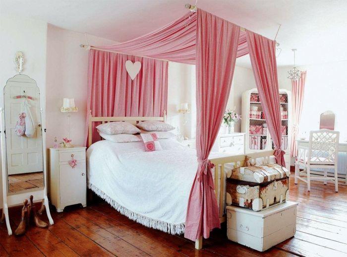 mädchenzimmer mit betthimmel einrichten Schlafzimmer Ideen