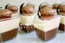 Mousse de chocolate negro y blanco