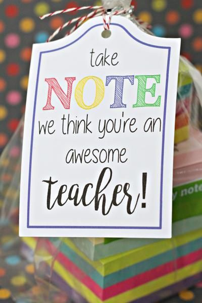 20 TEACHER SCHOOL SUPPLY TAGS printable #teachergifts