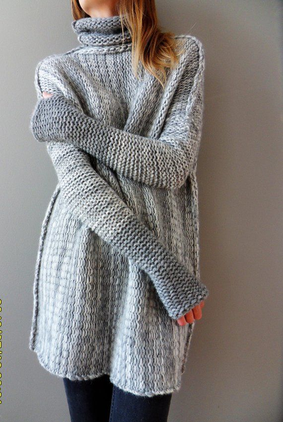 8ef6914c1 Oversized Alpaca Chunky knit sweater. Loose knit sweater ...