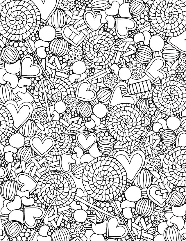candy coloring pages and fruits - photo#32
