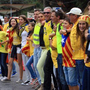Menschenkette: Hunderttausende Katalanen demonstrieren für eigenen Staat - SPIEGEL ONLINE
