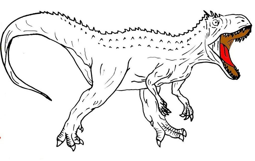 Indominus Rex Page Ready To Color Di 2020
