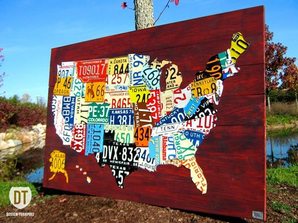 Design Turnpike Turns Old License Plates Into Cool US Maps
