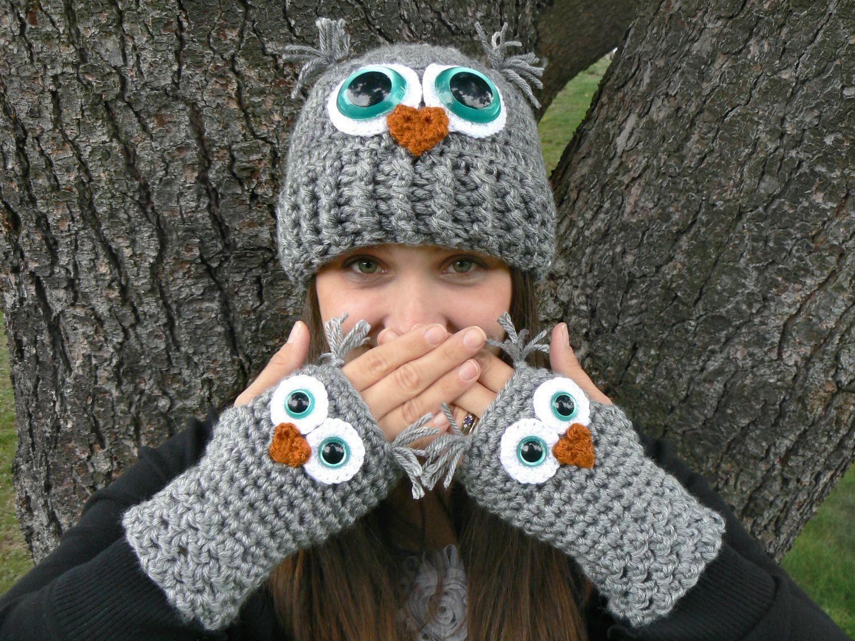 croche coruja - Pesquisa Google | toucas | Pinterest | Eule stricken ...
