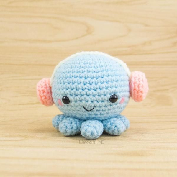 Crochet Octopus with Headphones