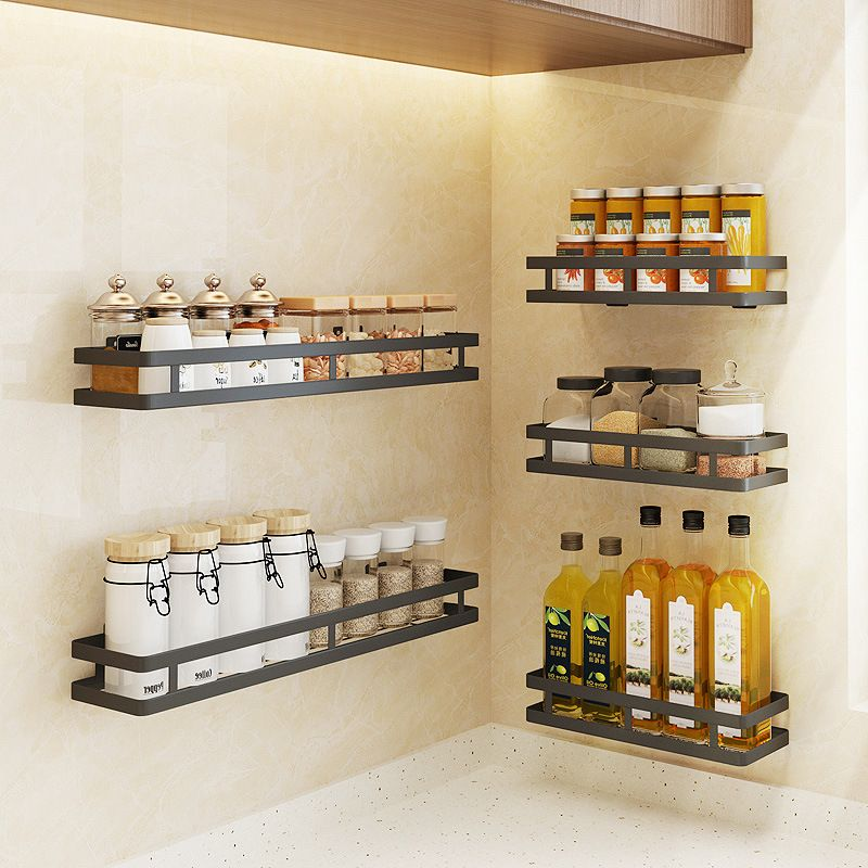 Wall Mounted Storage Stand Stainless Steel Kitchen Seasoning
