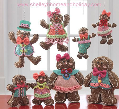 Chocolate Moose Christmas Decorating Collection Gingerbread Men - moose christmas decorations