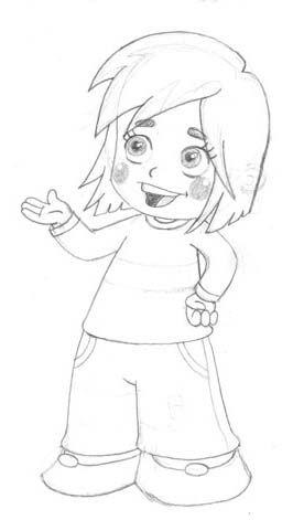 شخصية كرتونية مبتكرة بقلم الحبر Cartoon Drawings Anime Drawings Tutorials Art Prints
