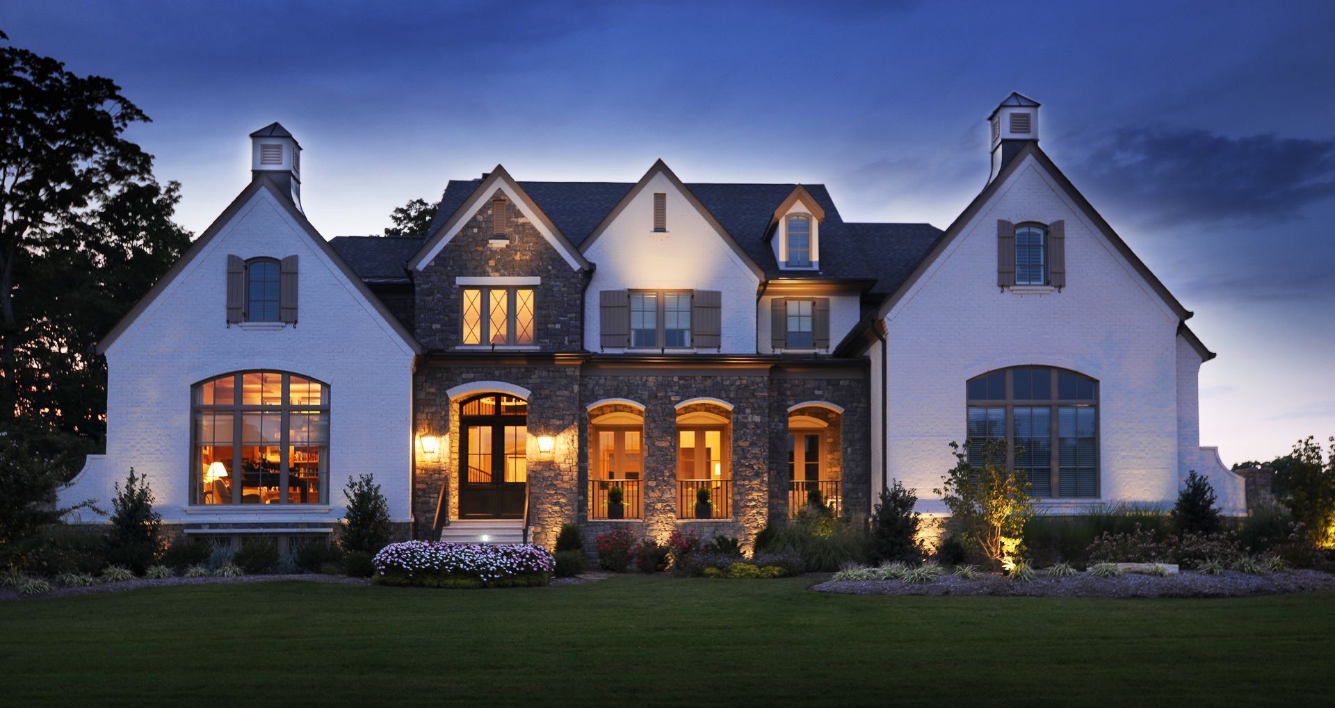 Front elevation architect house luxury homes exterior