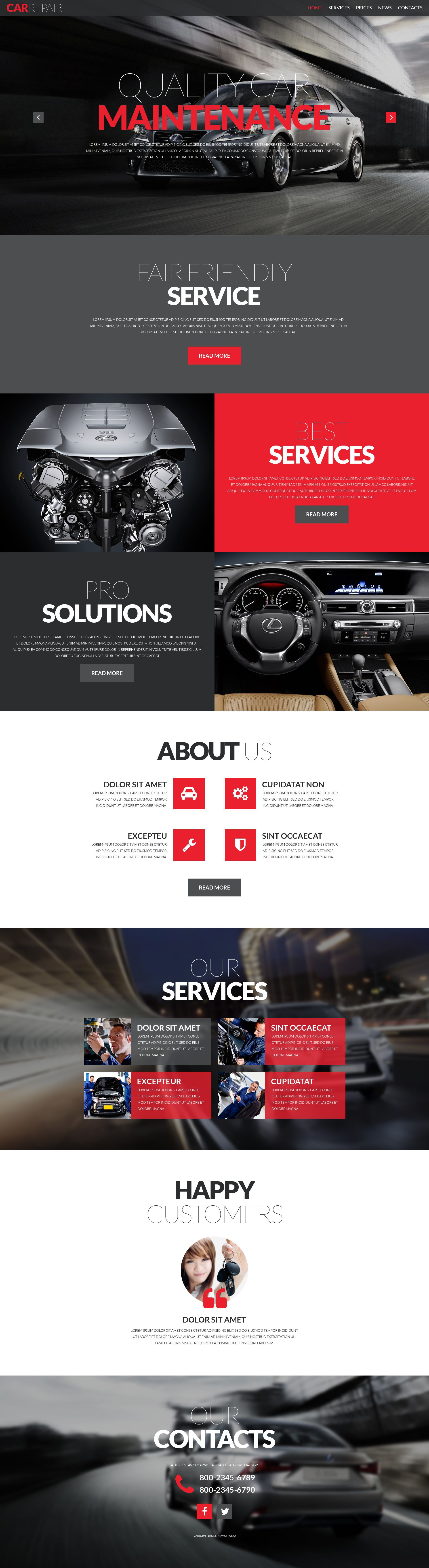 Car Repair Responsive Html Template Web Layout Design Website Design Website Design Inspiration