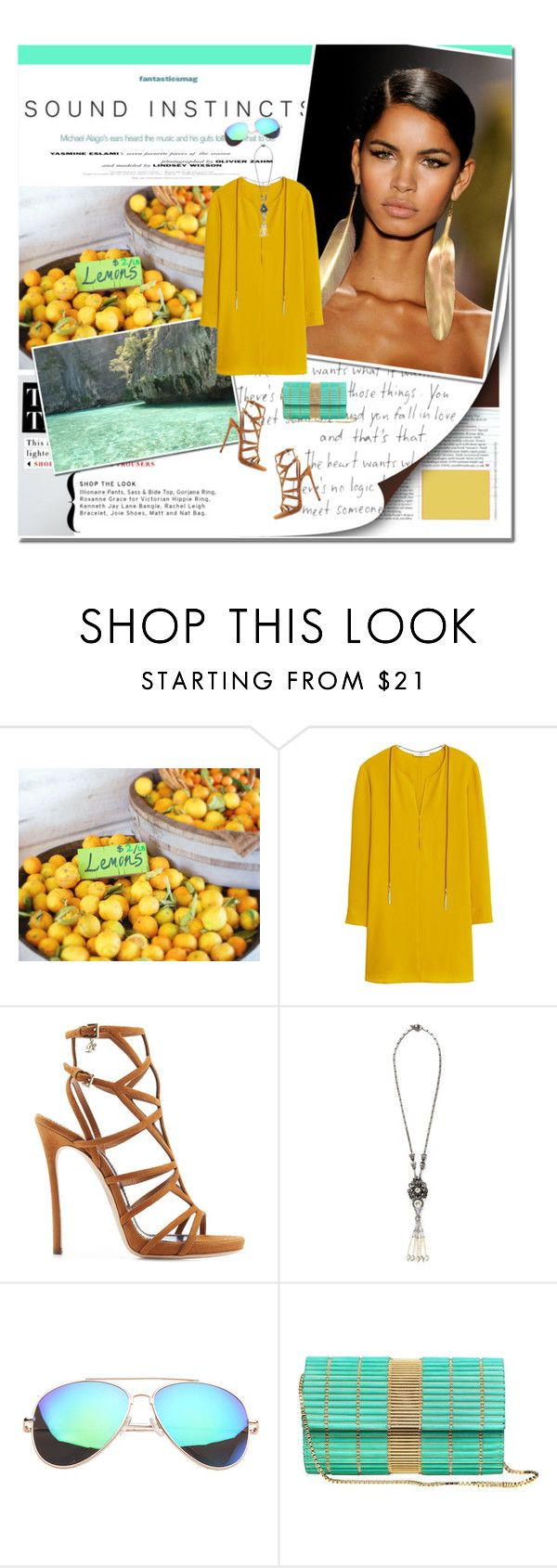"""sunny"" by lifestyle-ala-grace ❤ liked on Polyvore featuring F, Isolá, MANGO, Dsquared2 and Miriam Haskell"