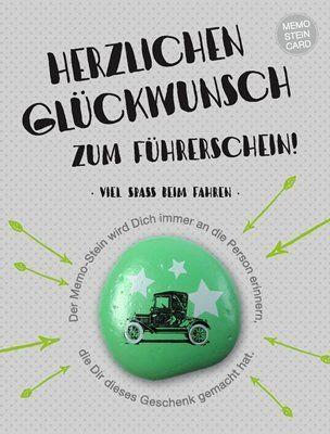 Memo Stein Card Herzlichen Glückwunsch Zum Führerschein