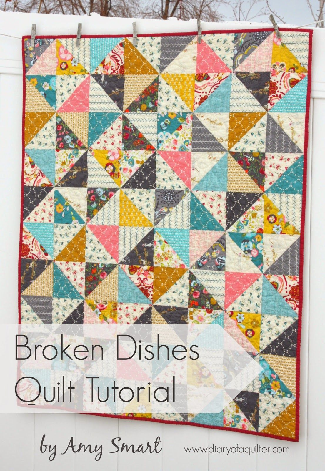 Half Square Triangle baby quilt pattern | Half square triangle