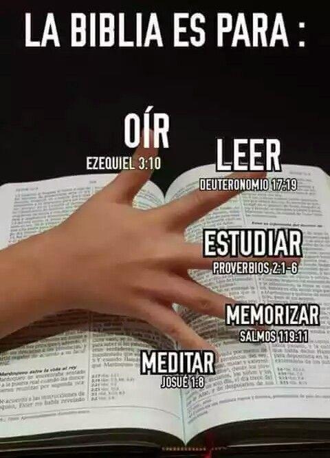 La Biblia Es Para Oír Leer Estudiar Memorizar Y Meditar Dios Te Habla A Través De Ella Biblical Verses God Prayer Quotes