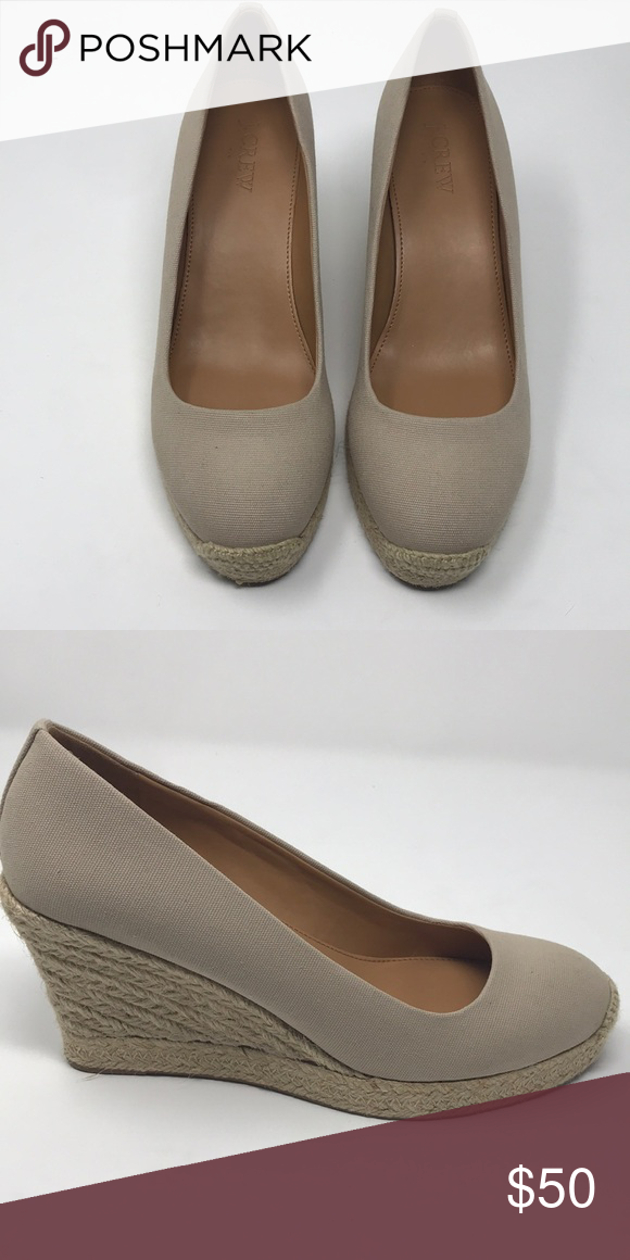 7be1330ac13 J. Crew Factory Shoes | Jcrew Canvas Espadrille Wedges | Color ...