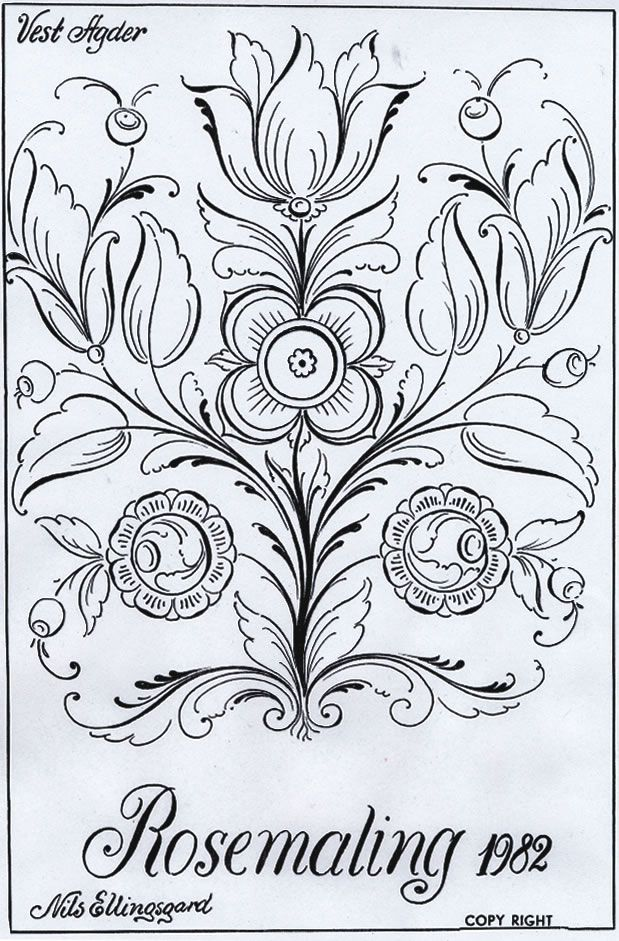 Pin By Erin Smith On Keepers Rosemaling Pattern Norwegian